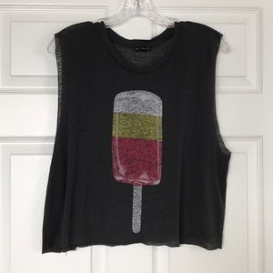Popsicle Cropped Muscle Tank